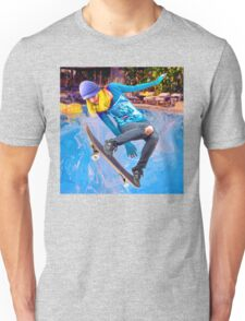 Skateboarding on Water Unisex T-Shirt