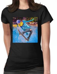 Skateboarding on Water Womens Fitted T-Shirt