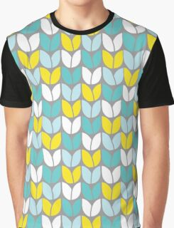 Tulip Knit (Aqua Gray Yellow) Graphic T-Shirt