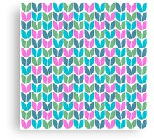 Tulip Knit (Blue Pink Green) Canvas Print