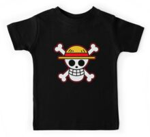 one piece straw hat Kids Tee