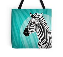 Zebra in Blue - Zebra in Blautönen Tote Bag