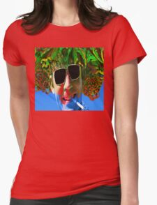 Hunter S Thompson-Gonzo Man Womens Fitted T-Shirt