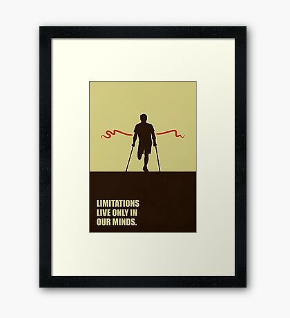 Limitations Live Only In Our Minds - Corporate Start-Up Quotes Framed Print