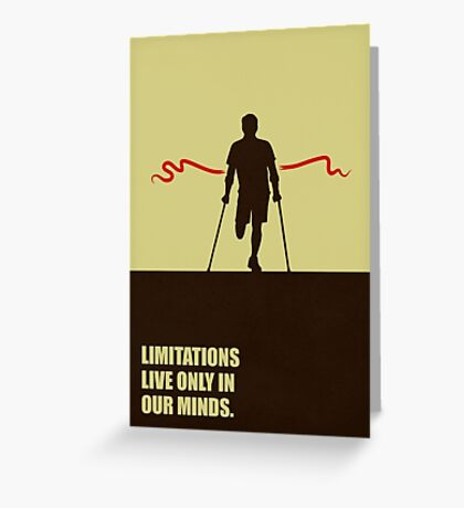 Limitations Live Only In Our Minds - Corporate Start-Up Quotes Greeting Card
