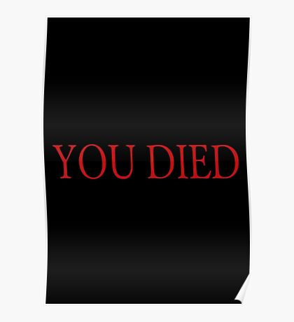 You Died Poster