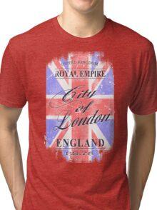 Union Jack - Vintage Look Tri-blend T-Shirt