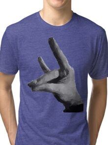 The silent Fox - Der stille Fuchs - Ruhe - Shut up Tri-blend T-Shirt