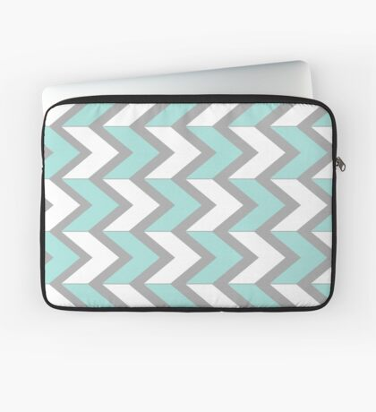 Minty Chevrons Laptop Sleeve