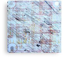Linien und Ringe Canvas Print