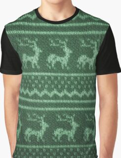 Ugly Christmas Sweater Pattern Graphic T-Shirt