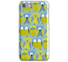 3 owls and a duck iPhone Case/Skin