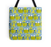 3 owls and a duck Tote Bag