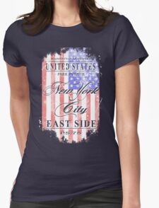 New York City - USA Vintage Flag Womens Fitted T-Shirt