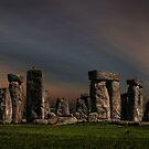 Stonehenge at dusk by eddiej