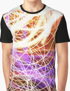 Psychedelic Neon Light Party Graphic T-Shirt