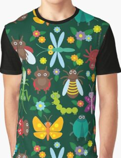 Insects on green Graphic T-Shirt