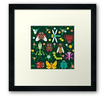 Insects on green Framed Print