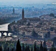 Dawn Over Verona Sticker