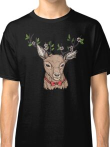 Deer with floral crown on antlers Classic T-Shirt