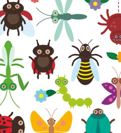 Insects on white Sticker