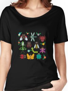 Insects on white Women's Relaxed Fit T-Shirt