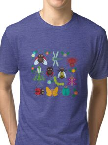 Insects on white Tri-blend T-Shirt