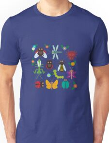 Insects on white Unisex T-Shirt