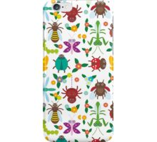 Insects on white iPhone Case/Skin