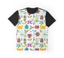 Insects on white Graphic T-Shirt