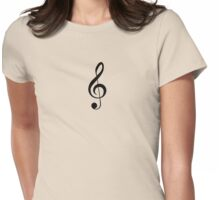 Treble Clef Musical Musician Baby Jumpsuit T-Shirt Bedpsread Duvet Sticker Womens Fitted T-Shirt