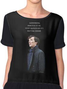 Sherlock - London. Breathe it in. Chiffon Top