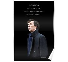Sherlock - London. Breathe it in. Poster