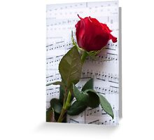 Rose on Notes Greeting Card