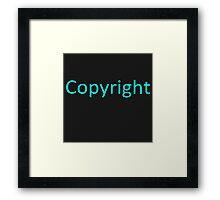 Copyright 2 Framed Print