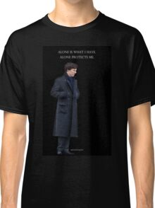 Sherlock - Alone is what protects me Classic T-Shirt