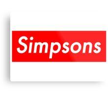 Simpsons, supreme Metal Print