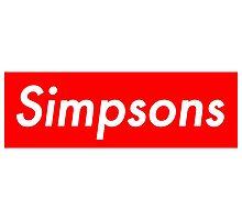 Simpsons, supreme Photographic Print