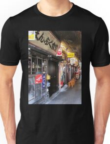 Tokyo Restaurants and Businesses under Yurakucho Railway Line Bridge Unisex T-Shirt