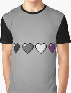 Asexual Pixel Hearts Graphic T-Shirt