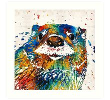 Otter Art - Ottertude - By Sharon Cummings Art Print