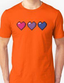 Bisexual Pixel Hearts Unisex T-Shirt