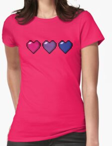 Bisexual Pixel Hearts Womens Fitted T-Shirt