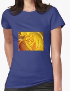 Yellow rose bud Womens Fitted T-Shirt