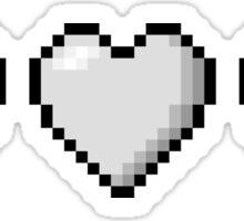 Genderqueer Pixel Hearts Sticker