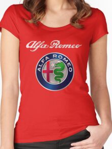ALFA ROMEO SILVER Women's Fitted Scoop T-Shirt