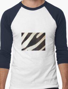 Zebra Stripes Men's Baseball ¾ T-Shirt