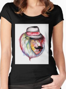 Rainbow Lion Women's Fitted Scoop T-Shirt