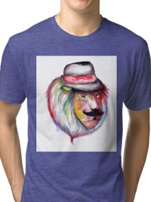 Rainbow Lion Tri-blend T-Shirt