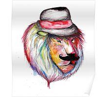 Rainbow Lion Poster